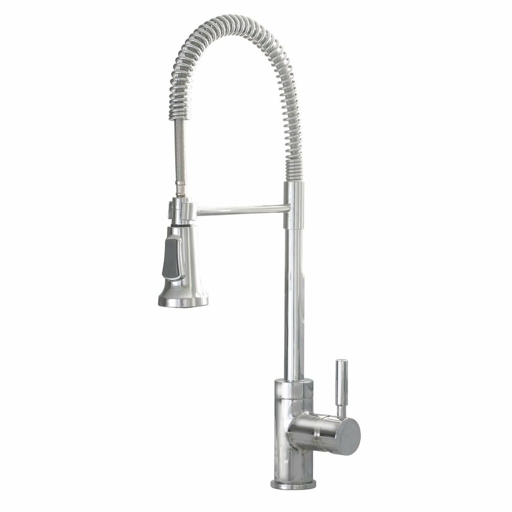 Industrial Style Chrome Pull Down Kitchen Sink Faucet Ebay
