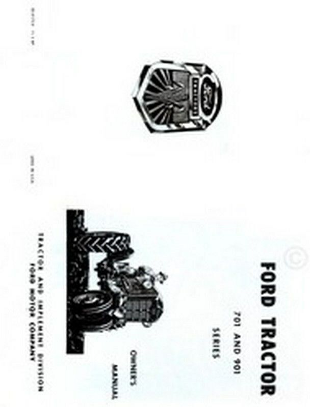 ford 701  u0026 901 series tractor owner operator manual