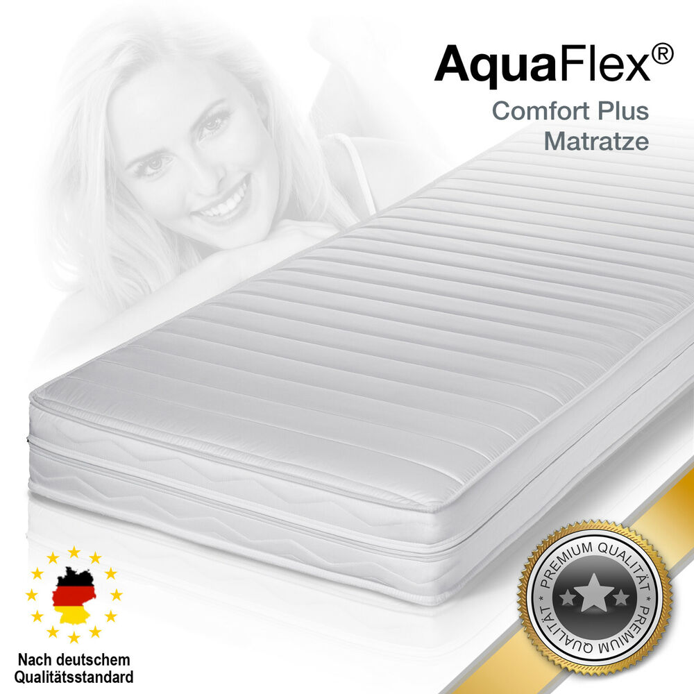 aquaflex comfort plus premium memory kaltschaum matratze 90x200 h2 ebay. Black Bedroom Furniture Sets. Home Design Ideas