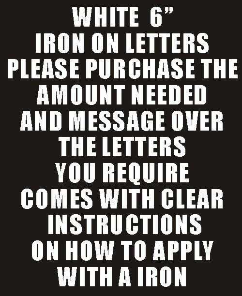 how to iron on letters pack of 2 x 6 quot white iron on characters letters or 11753