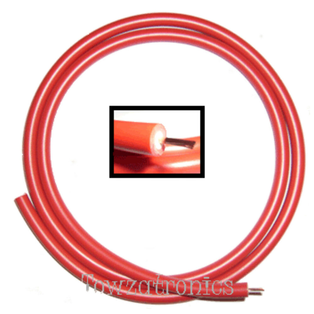 High Tension Cable : Red ht high tension ignition lead cable priced per