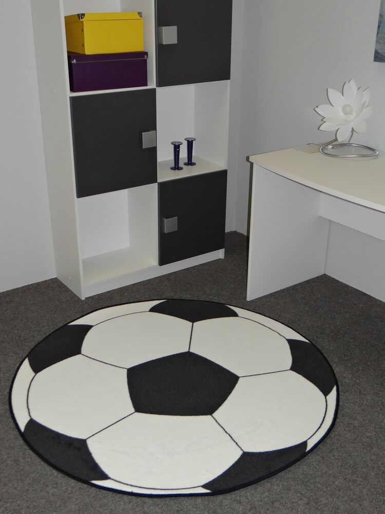 fussballteppich teppich fu ball 133cm rund ebay. Black Bedroom Furniture Sets. Home Design Ideas