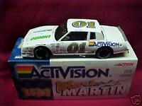 1983 MARK MARTIN #01 ENDURO BY ACTIVISION 1/24 CLEAR WINDOW ACTION BANK CAR