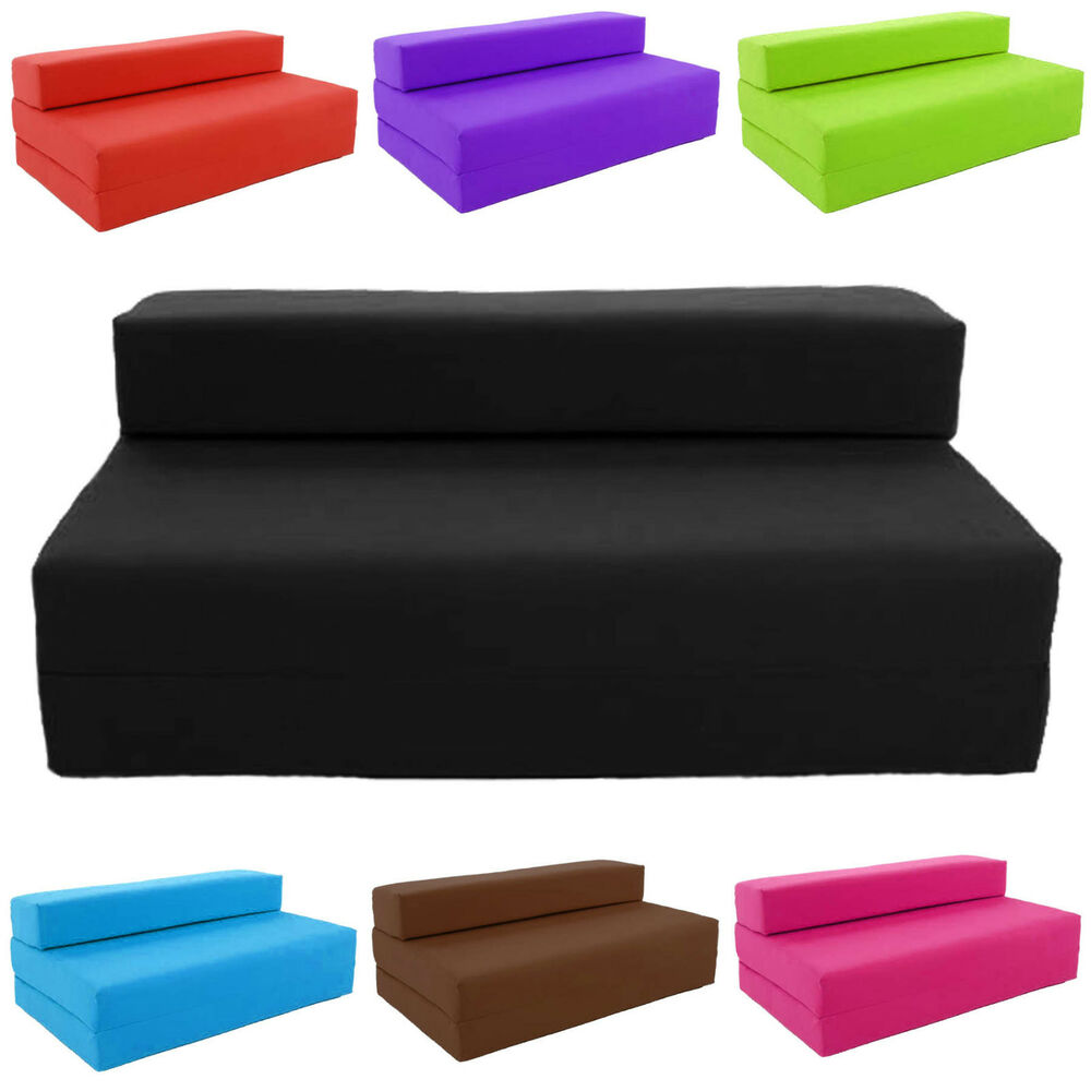 Block filled fold up sofa bed z guest foam futon mattress for Canape lit futon