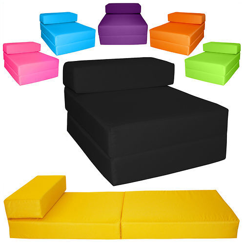 chair z bed single fold out futon chairbed chair foam folding guest sofa gilda ebay. Black Bedroom Furniture Sets. Home Design Ideas
