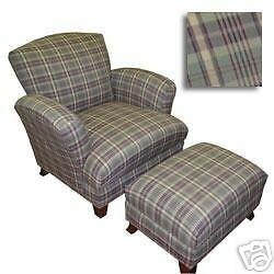 New Sam Moore Detroit Chair With Matching Ottoman Ebay