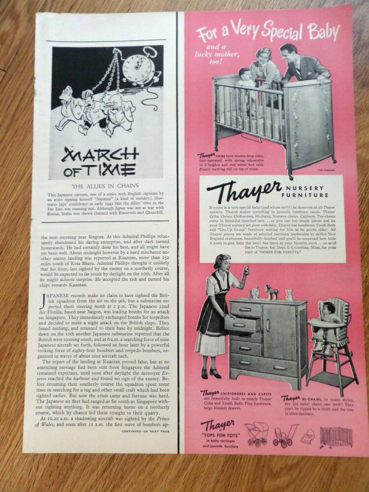 1950 Thayer Nursery Baby Furniture Ad Ebay