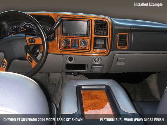 Dash trim kit fits chevy silverado sierra 99 2000 2001 2002 ebay for 1998 chevy tahoe interior parts
