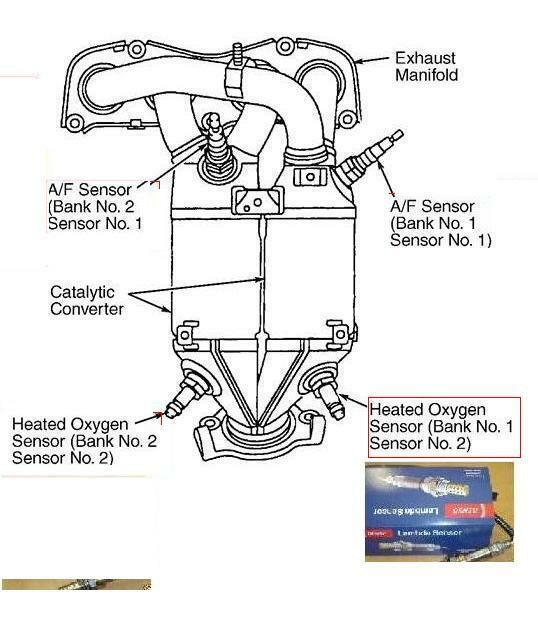 S L on 2002 Lexus Es300 Oxygen Sensor Location