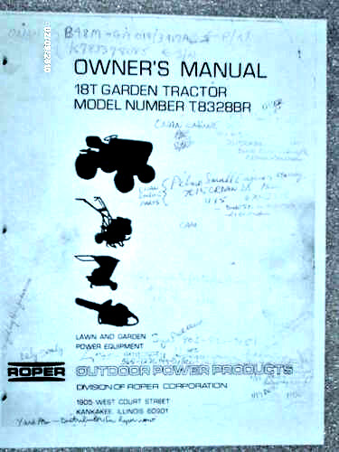 Roper Lawn Tractors And Garden : T br sears roper garden tractor manual on cd ebay