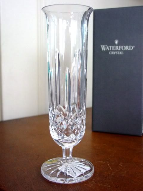Waterford Crystal Lismore Footed Stem Bud Vase New Ebay