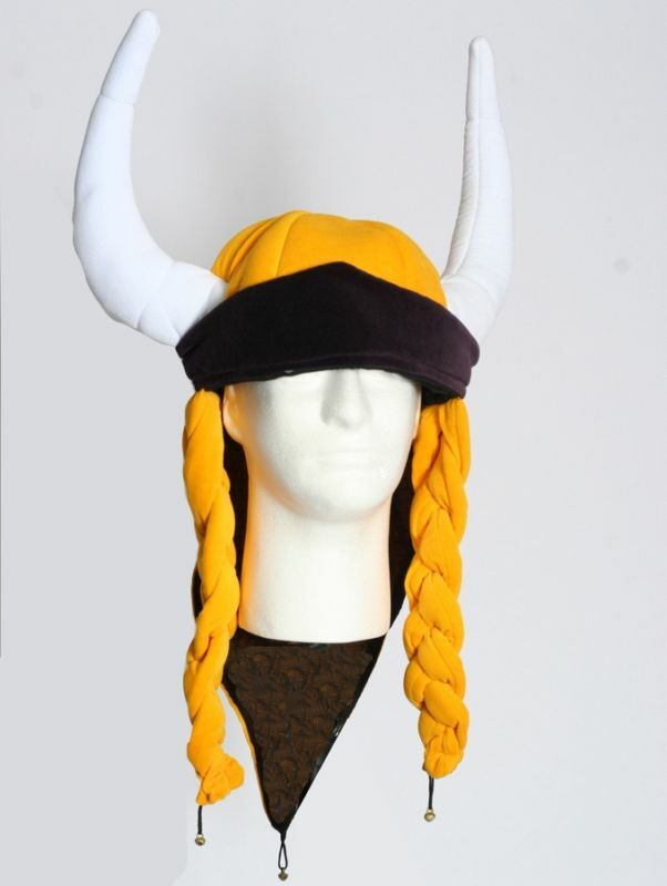 Minnesota Vikings Helga Hat with Braids and Horns. | eBay