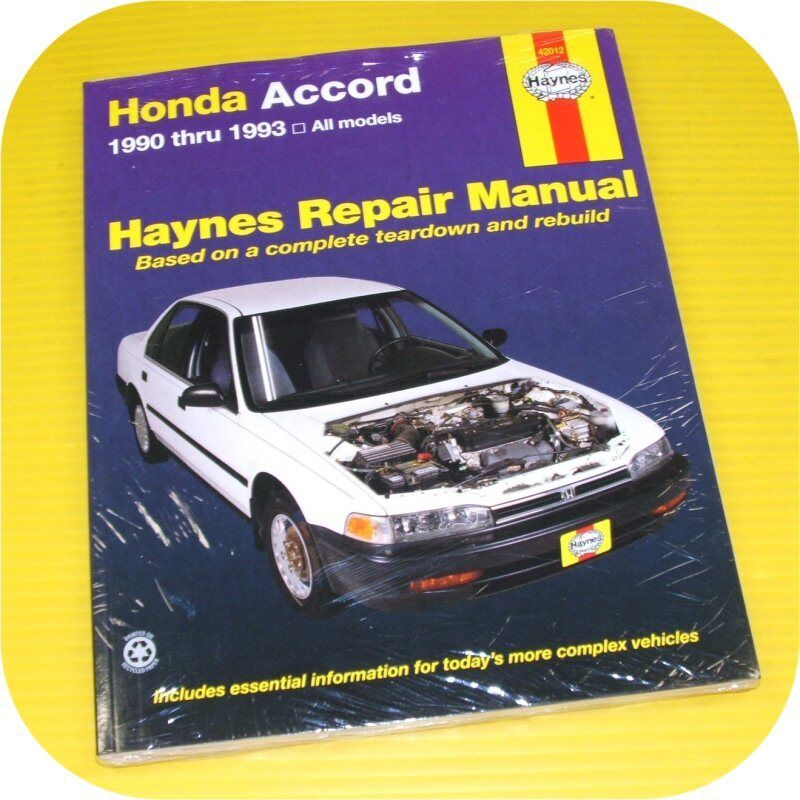 repair manual book honda accord   dx  lx owners ebay