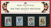 1990 Queen Mothers 90th Birthday Presentation Pack