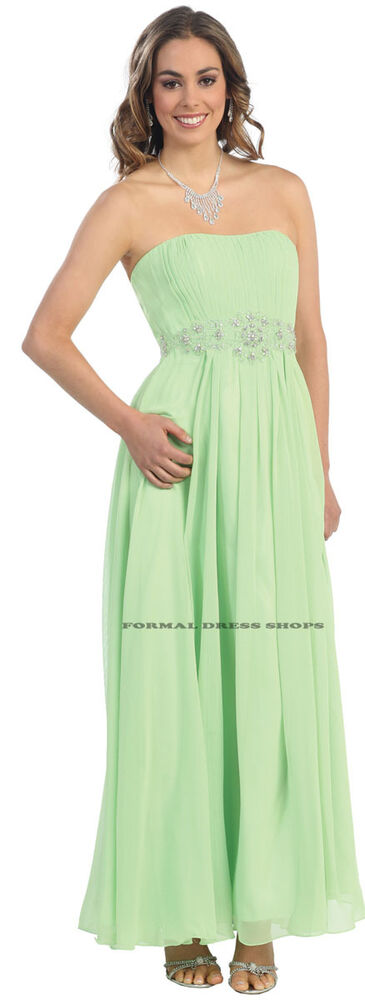 SALE ! NEW STRAPLESS BRIDESMAID FORMAL GOWN UNDER $100 ...