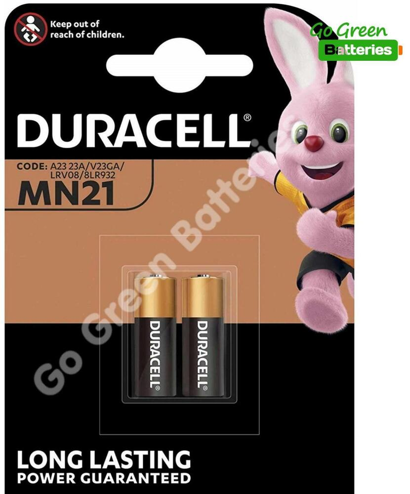 2 x duracell mn21 a23 12v battery 23a lrv08 k23a e23a ebay. Black Bedroom Furniture Sets. Home Design Ideas