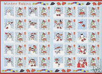 2003 SG. LS14 Winter Robins Smilers Sheet