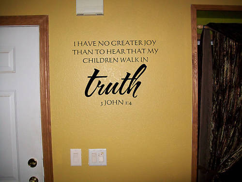 Bible Verse Decorative Wall Stickers : Truth john bible verse vinyl wall decal sticker