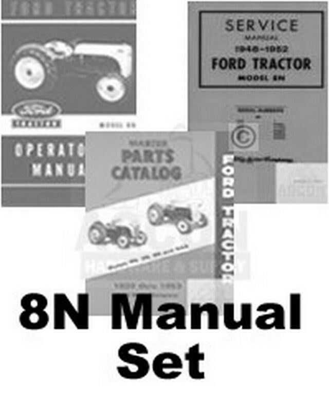 ford  tractor chassis service operators parts manual ebay