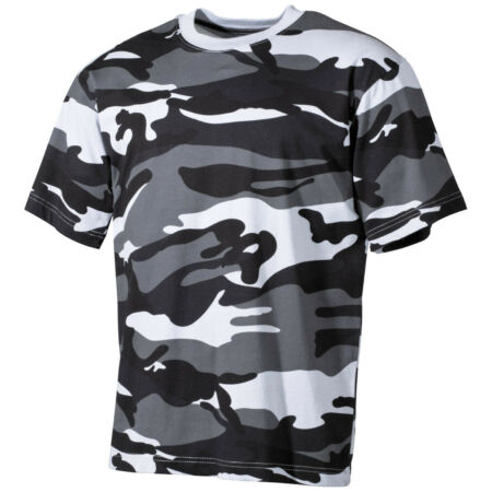 img-Classic Mens Combat T-Shirt Military Tee Army Top 100% Cotton Skyblue Camo S-XXL