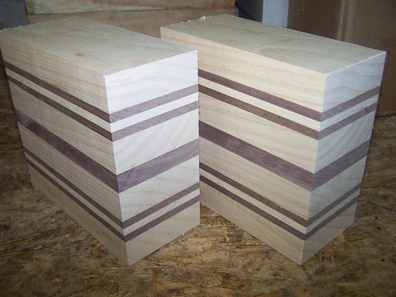 Laminated Wood Turning Blanks ~ White ash walnut laminated bowl blanks lumber wood ebay