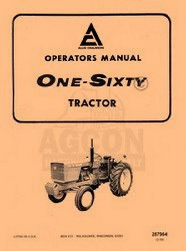 allis chalmers 160 one sixty owners operators manual ebay Standard Operating Manual Instruction Manual
