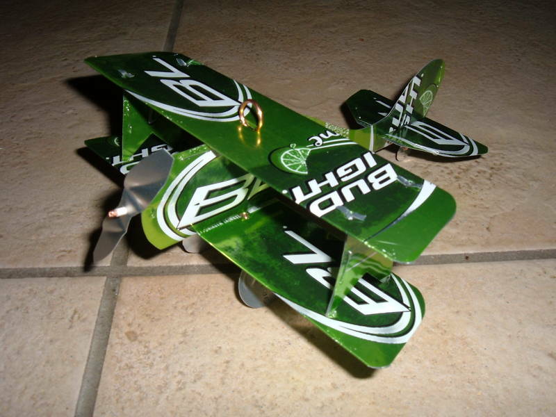 Bud Light Lime Plane Airplane Made From Real Beer Cans Ebay
