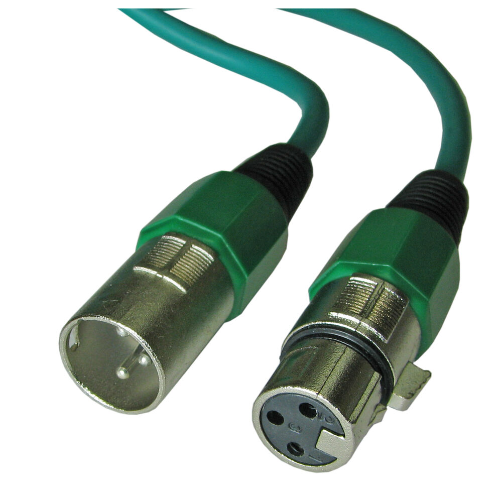 Microphone With Cord : Ft color green xlr pin mic microphone cable cord ebay