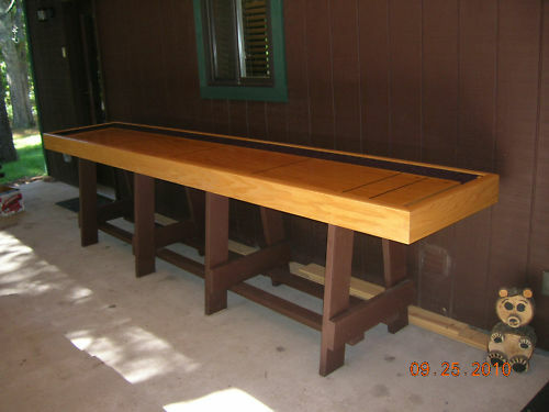 Shuffleboard table plans illustrated econo to make ebay for Table plan board