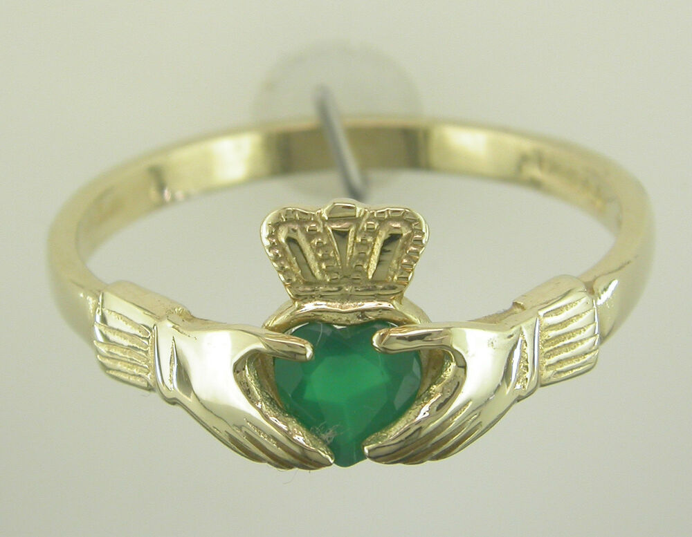ladies 14k gold irish handcrafted birthstone claddagh ring. Black Bedroom Furniture Sets. Home Design Ideas