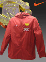 New NIKE MANCHESTER UNITED Football RAIN JACKET AIG Red S
