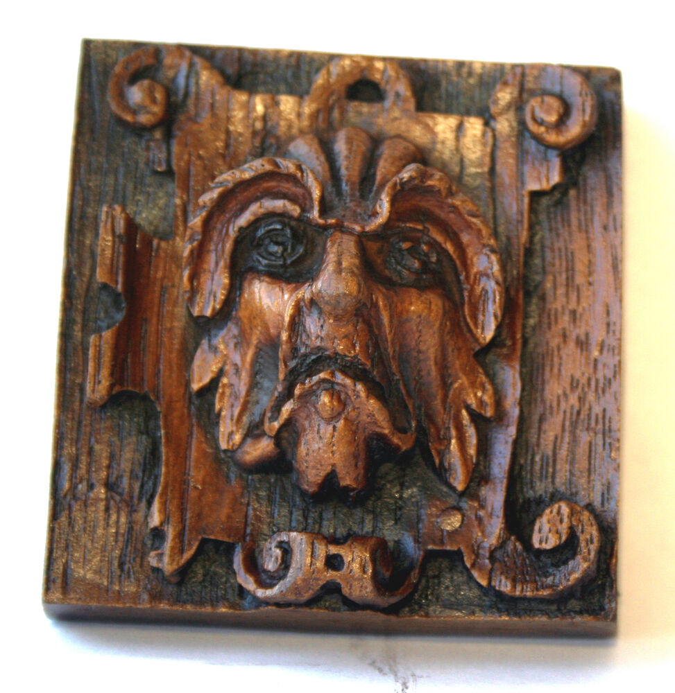 Medieval Ornament Plaque Reproduction Cathedral Carving