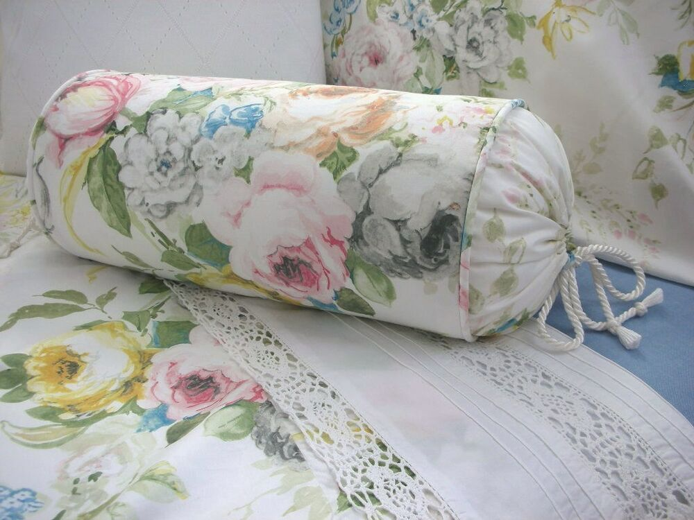 Decorative Bed Roll Pillows : NEW Custom Ralph Lauren Home Lake Floral Neck Roll Pillow Neckroll eBay