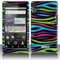 Colorful Zebra Hard Case Cover Motorola DROID 2 A955