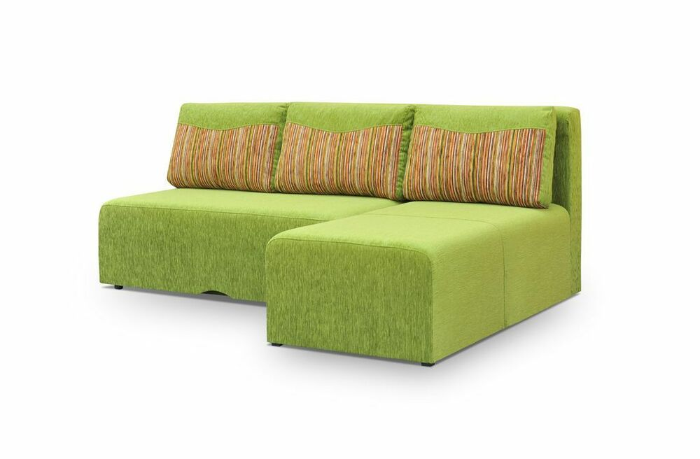 Brand new green hidden corner sofa bed mickey cheap for Beds january sales