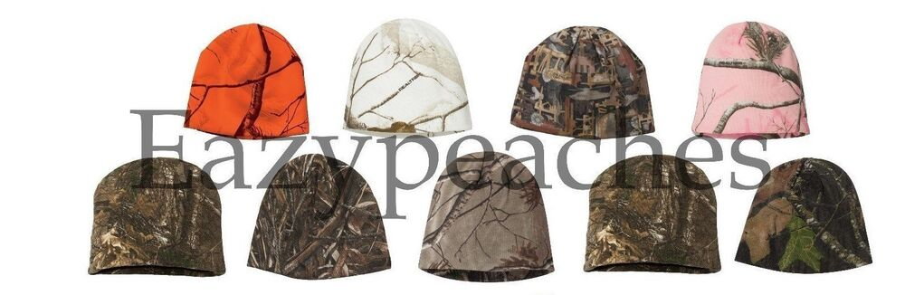 Outdoor Cap Unisex Size Realtree Ap Licensed Camo Knit