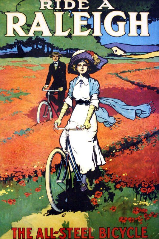 Vintage Bicycle POSTER.Stylish Graphic.Raleigh.Collector ...