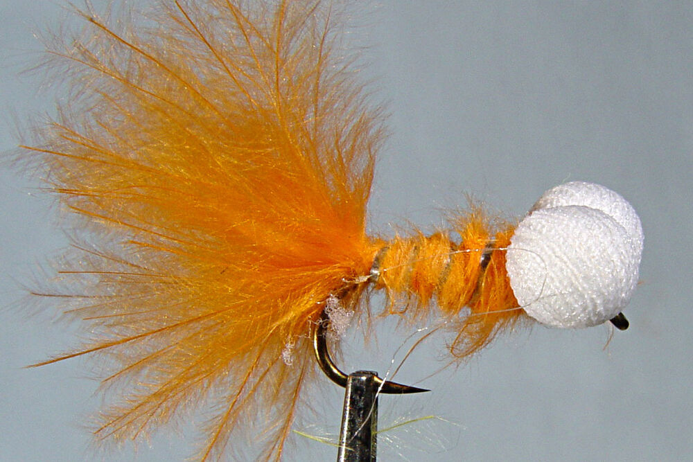 1 x mouche de peche streamer booby orange h8 10 12 mosca fly tying trout truite ebay. Black Bedroom Furniture Sets. Home Design Ideas