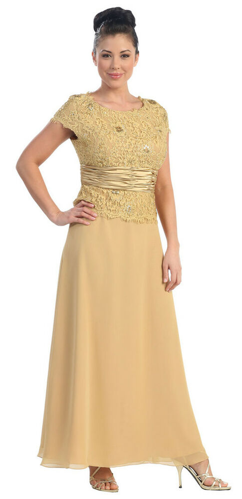 Mother of the bride groom dress plus size formal gown ebay for Plus size wedding dresses for mother of the groom