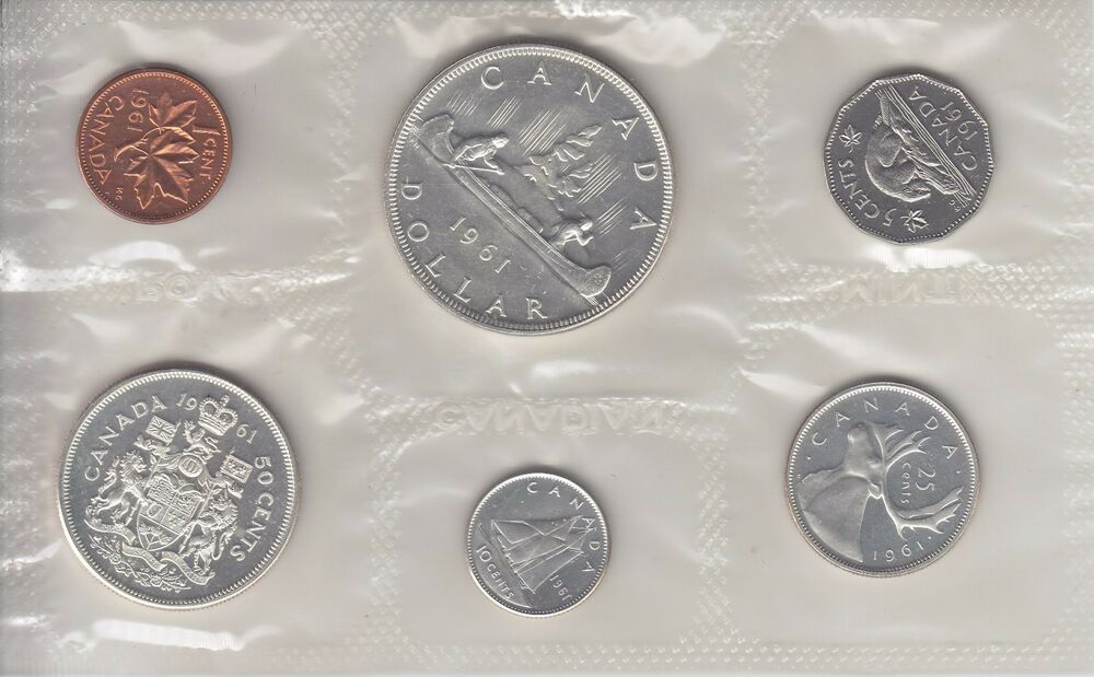 1961 Canada Uncirculated Silver Proof Like Pl Set Ebay
