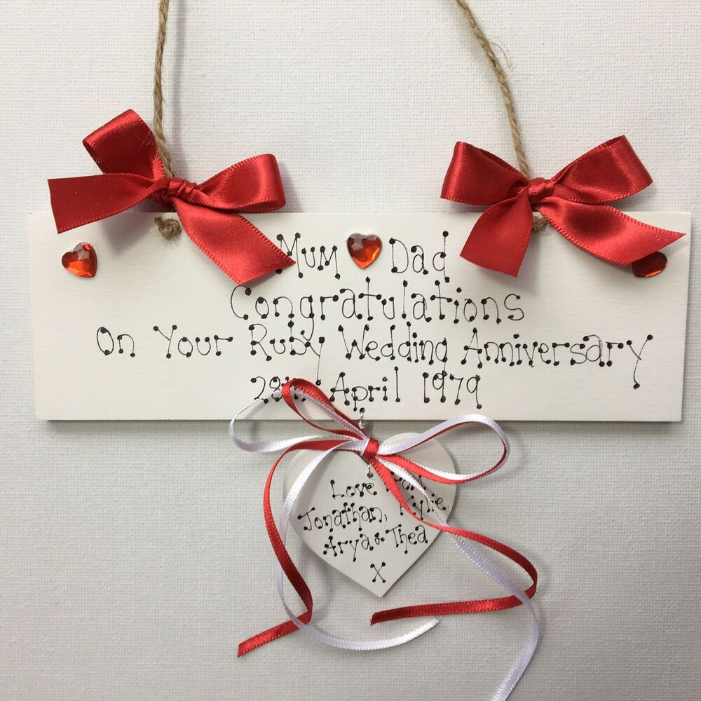 Personalised Wedding Anniversary Gifts Ruby Diamond Golden Silver ...