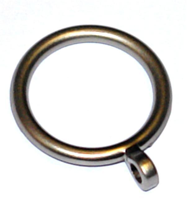 curtain pole ring eyelet metal matt chromed 25mm x 6 ebay. Black Bedroom Furniture Sets. Home Design Ideas