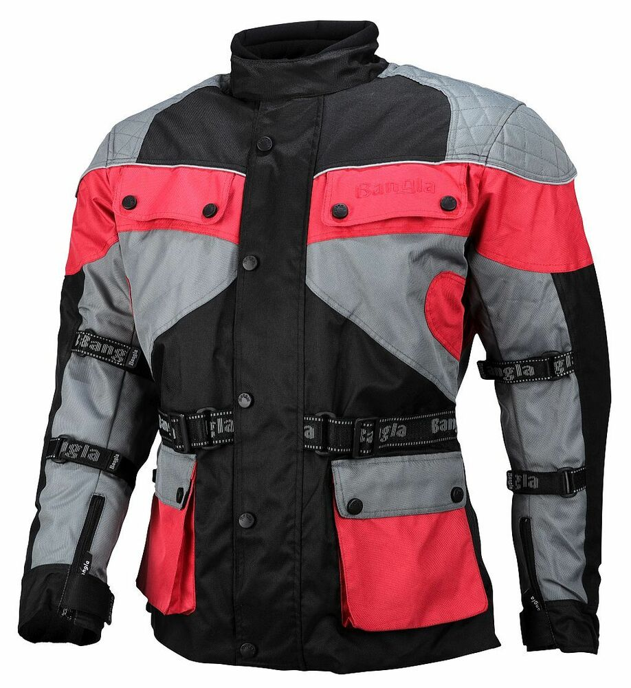 motorrad jacke touren cordura motorradjacke rot schwarz grau m ebay. Black Bedroom Furniture Sets. Home Design Ideas