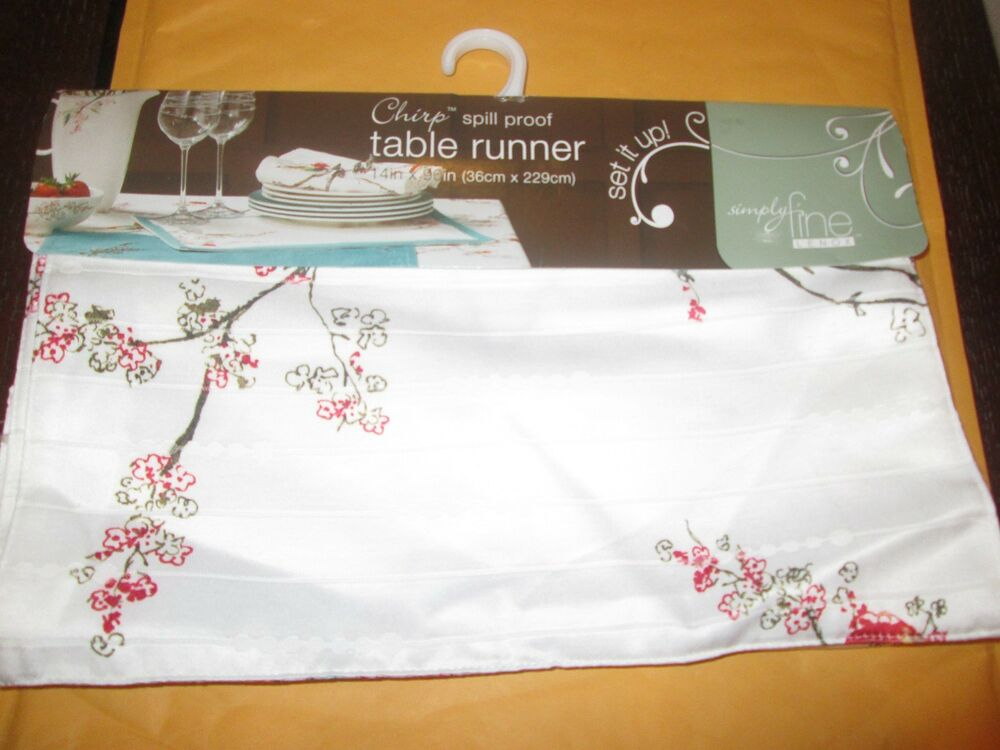Lenox chirp 90 table runner new with tags ebay for Table 6 lenox