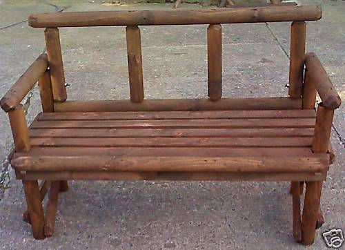 New Hand Made Rustic Wood 2 Seater Garden Bench Ebay