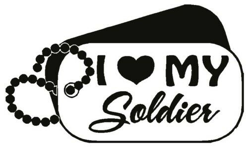 I Love My Soldier Army Dog Tags Car Decal Vinyl Sticker Ebay