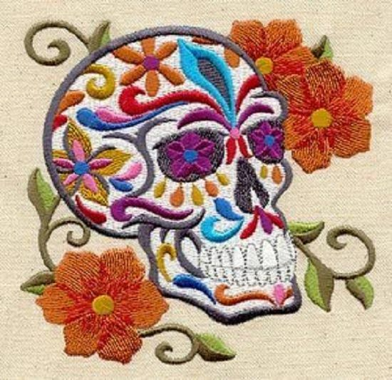 Calavera skull unique embroidered set of towels ebay
