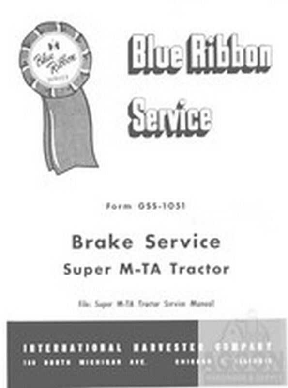 farmall super m mta m ta disc brake service manual ebay. Black Bedroom Furniture Sets. Home Design Ideas