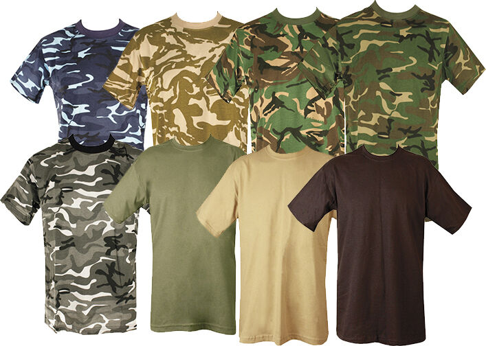 Mens Military Tactical Camouflage Camo T Shirt Army Combat