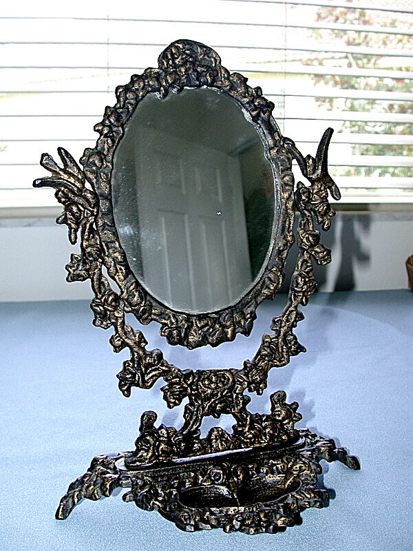 antique metal swivel vanity table mirror ebay 87964